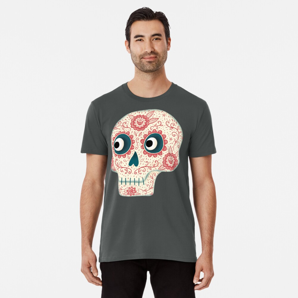 Mexikanischer Dia de los Muertos Tag der Toten Premium T-Shirt