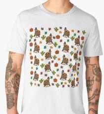 Thanksgiving Turkey pattern Men's Premium T-Shirt