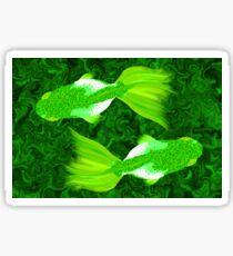 Goldfish 06 Green Sticker