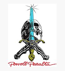 Powell Peralta Skull and Sword Photographic Print