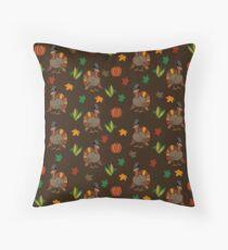 Thanksgiving Turkey pattern Throw Pillow