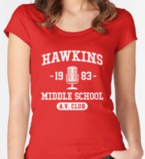 Hawkins Middle School A.V. Club - Stranger Things Women's Fitted Scoop T-Shirt