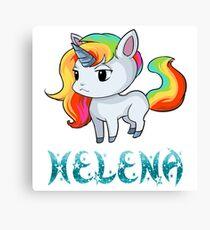 Helena Unicorn Sticker Canvas Print