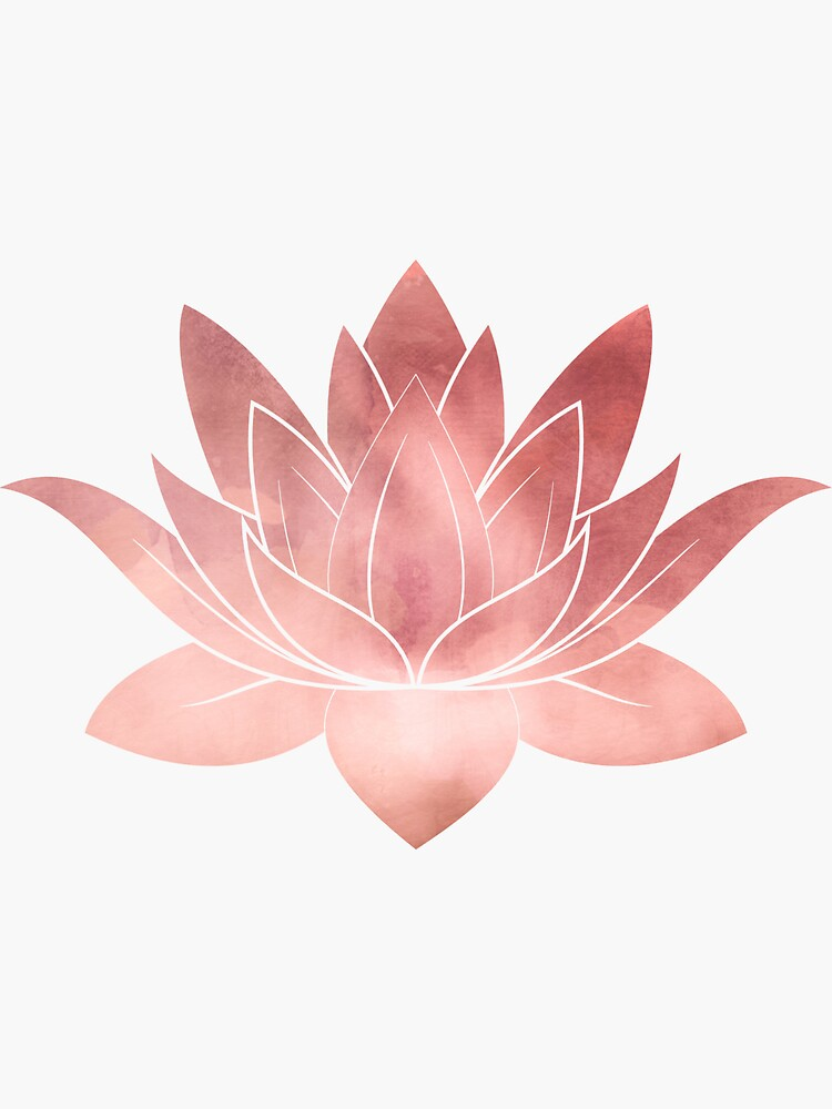 Lotus Flower   Pink   Watercolor Texture by ChipiArtPrints