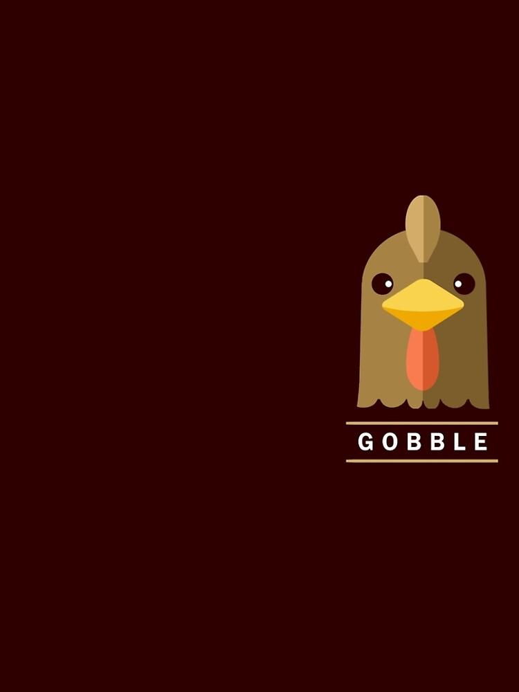 Minimalist Thanksgiving Turkey Face by BootsBoots