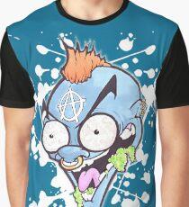 Blue Loon Freak Cartoon Graffiti Character Graphic T-Shirt