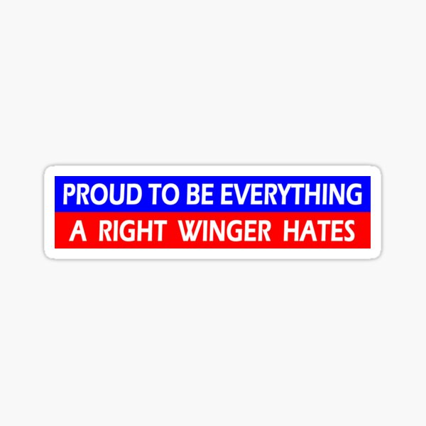 Liberal Democrat Gifts - Proud to Be Everything a Right Winger Hates Funny Gift Ideas for Anti Trump 2020 Democrats & Liberals Sticker
