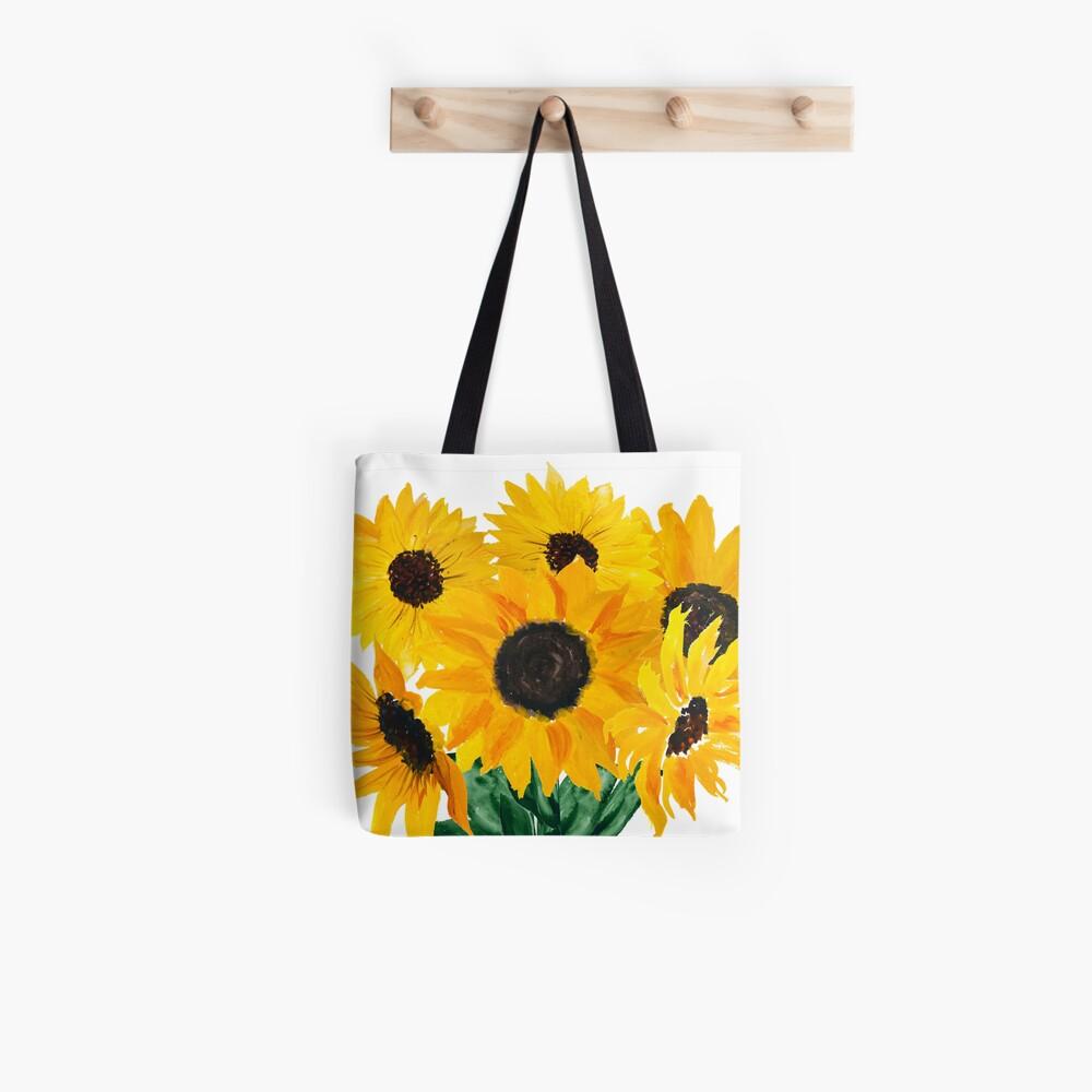 Gemalter Sonnenblumenstrauß Tote Bag