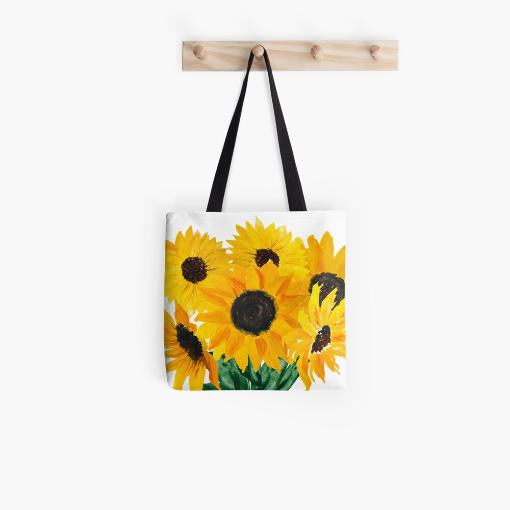 Painted sunflower bouquet Tote Bag