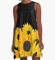 Painted sunflower bouquet A-Line Dress