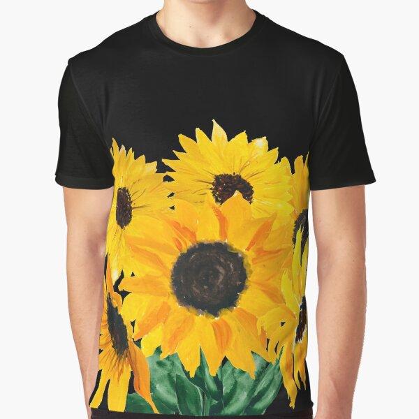 Gemalter Sonnenblumenstrauß Grafik T-Shirt