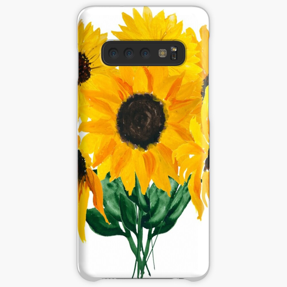 Painted sunflower bouquet Case & Skin for Samsung Galaxy