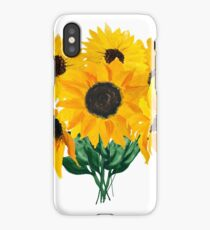 Painted sunflower bouquet iPhone Case/Skin