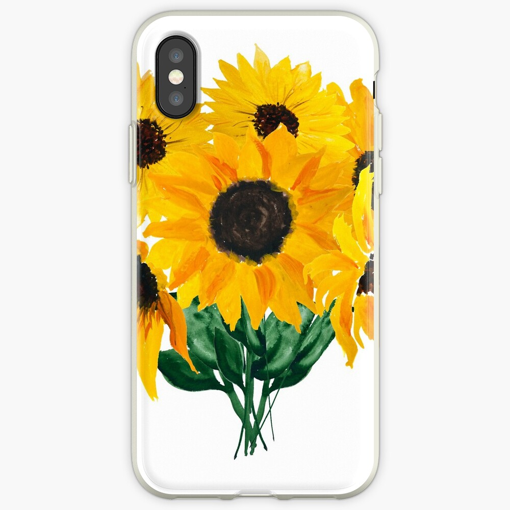 Painted sunflower bouquet iPhone Case & Cover