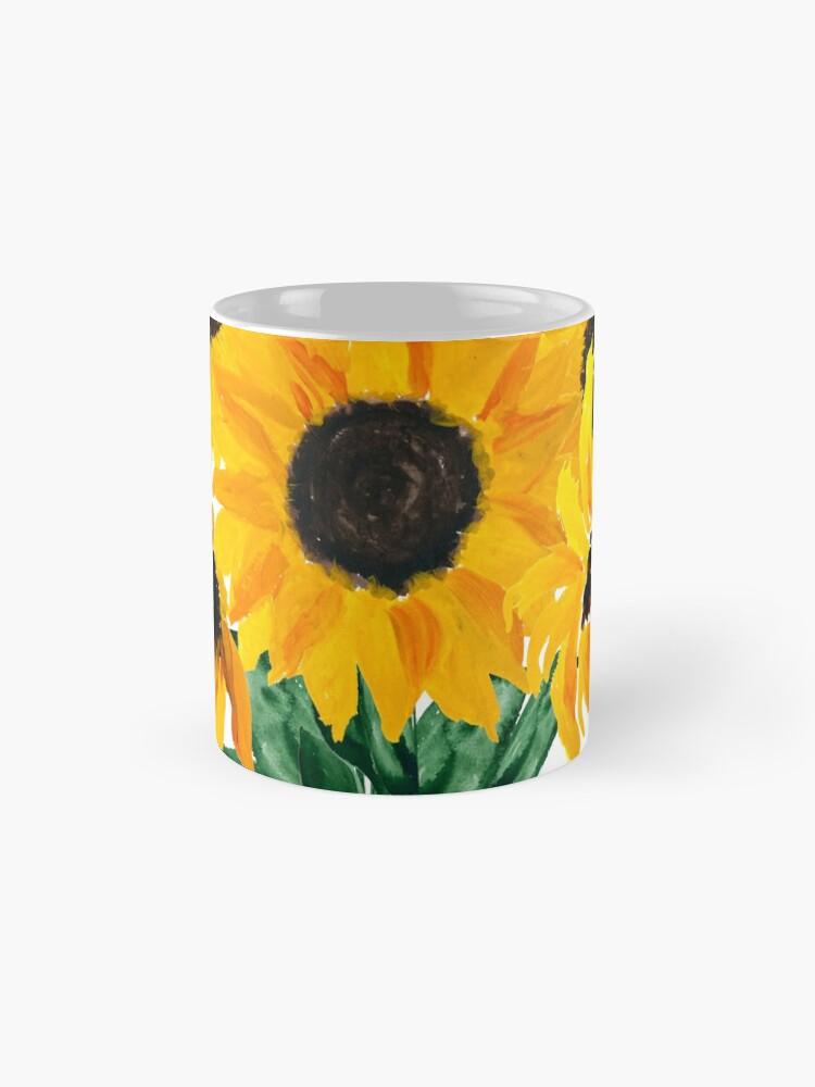 Alternative Ansicht von Gemalter Sonnenblumenstrauß Tassen