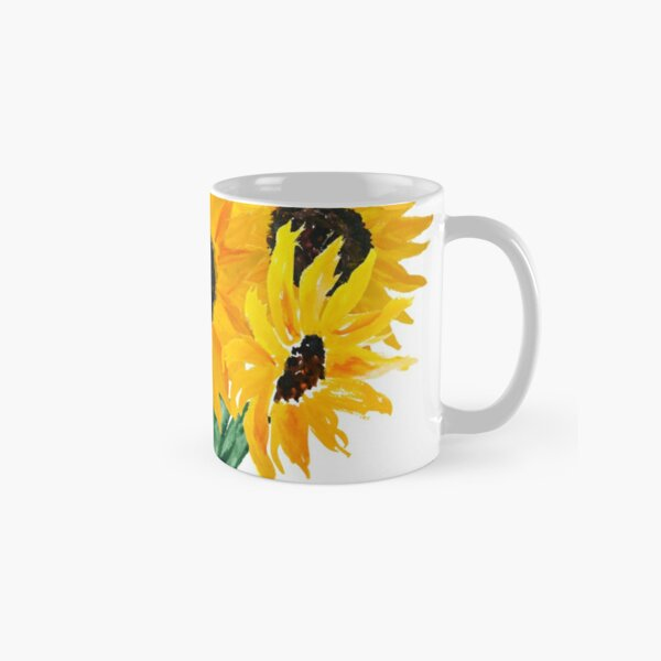 Painted sunflower bouquet Classic Mug