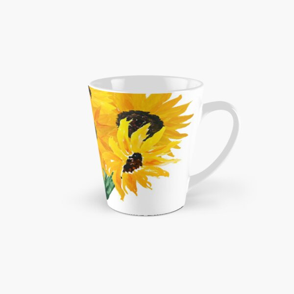 Painted sunflower bouquet Tall Mug