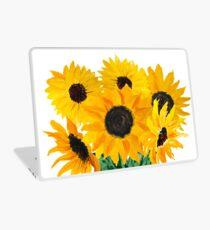Gemalter Sonnenblumenstrauß Laptop Skin