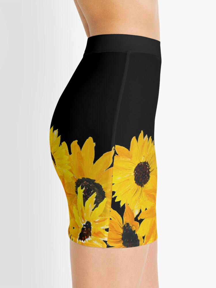 Alternate view of Painted sunflower bouquet Mini Skirt