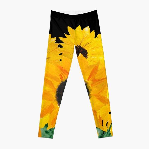 Gemalter Sonnenblumenstrauß Leggings