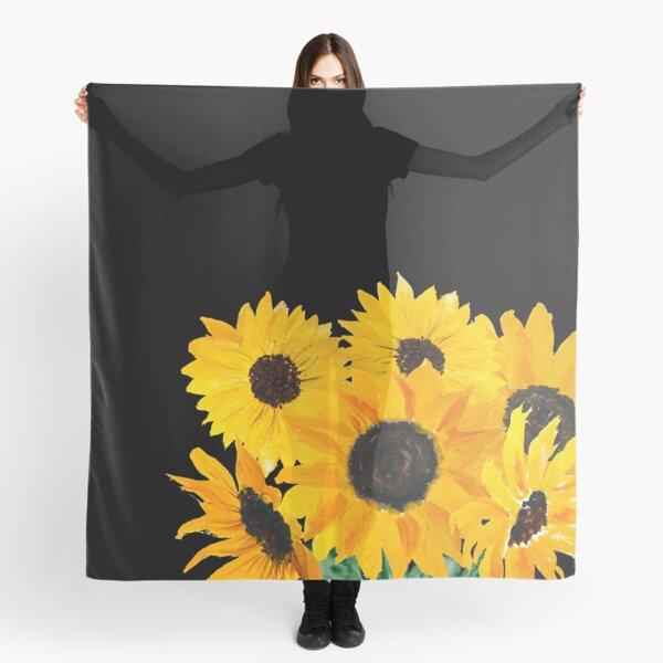 Gemalter Sonnenblumenstrauß Tuch