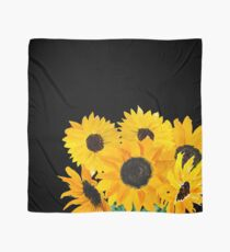 Painted sunflower bouquet Scarf