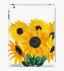 Painted sunflower bouquet iPad Case/Skin