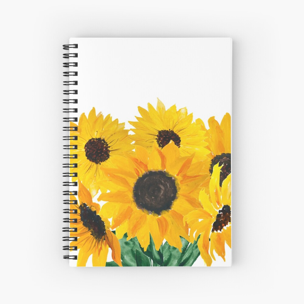 Painted sunflower bouquet Spiral Notebook