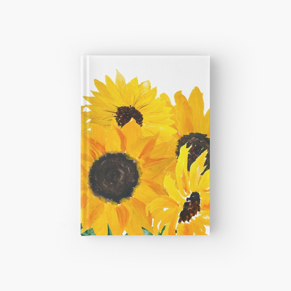Painted sunflower bouquet Hardcover Journal