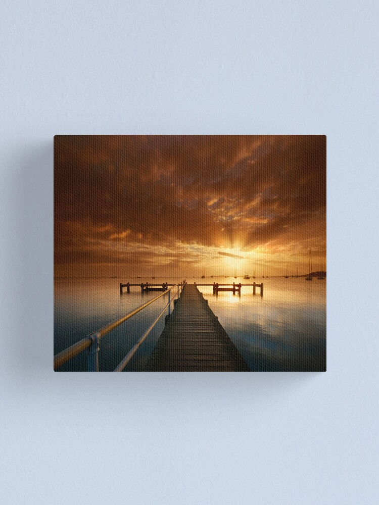 Alternate view of An Early Pier Canvas Print
