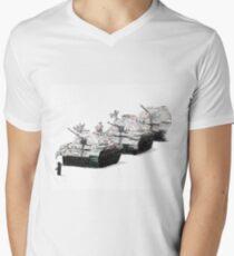 The Square Mens V-Neck T-Shirt