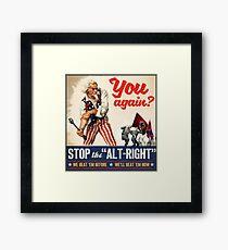 Antifa | Stop the Alt Right | Anti Trump Framed Print