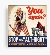 Antifa   Stop the Alt Right   Anti Trump Canvas Print