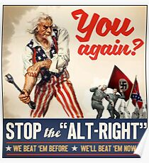 Antifa - Stoppen Sie den Alt Right - Anti Trump Poster