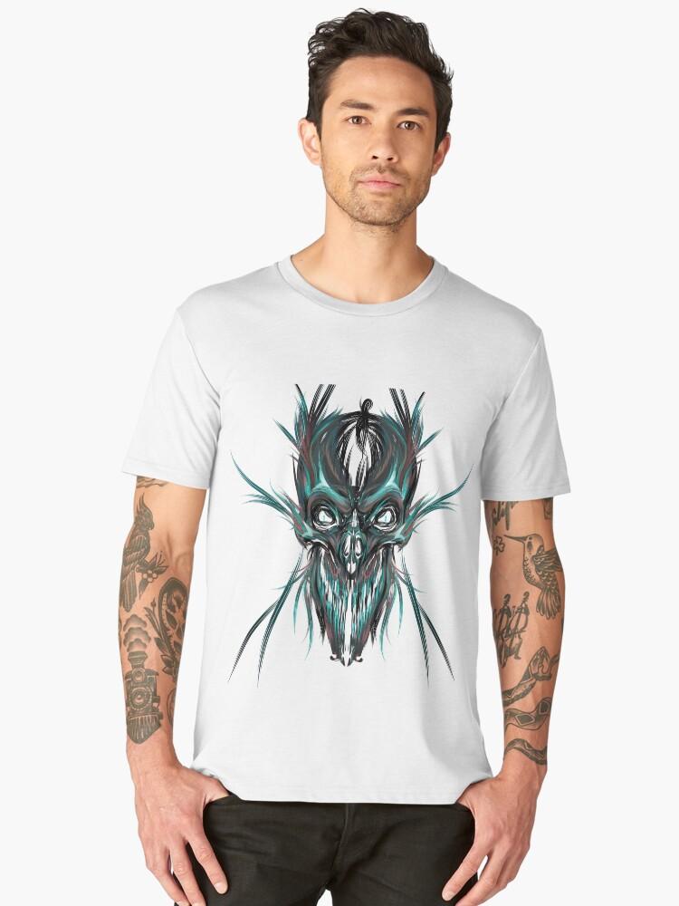 Camisetas premium para hombre Esqueleto graffiti de calavera