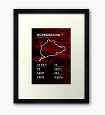Nurburgring Infographic Framed Print