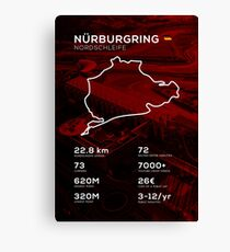 Nurburgring Infographic Canvas Print