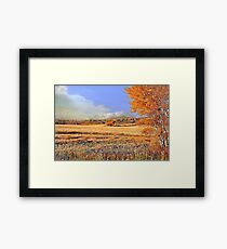 One autumn afternoon on the rolling prairie... Framed Print