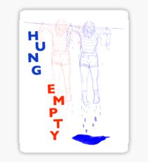 Hung empty  Sticker