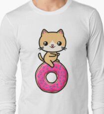 Kawaii Cat Donut T-Shirt