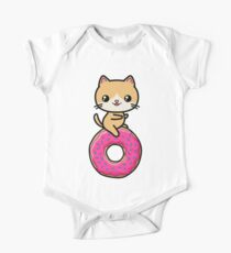Kawaii Cat Donut One Piece - Short Sleeve