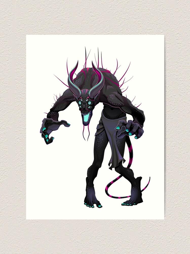 Scary Monster La Chupacabra Monster Dark Monster Evil Monster Art Print By Sunnyshop Redbubble