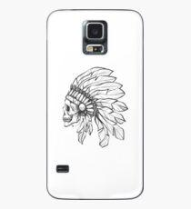 Funda/vinilo para Samsung Galaxy cráneo nativo americano, muerto nativo americano, cráneo americano, nativo cráneo, cráneo con pluma