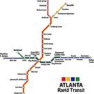 ATLANTA Rapid Transit Map by UrbanRail