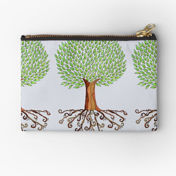 Rooted Tree Zipper Pouch