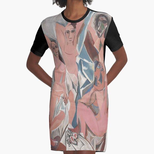 Les Demoiselles d'Avignon( The Young Ladies of Avignon)- Pablo Picasso Graphic T-Shirt Dress