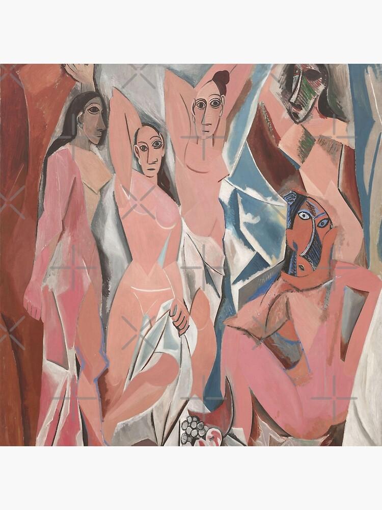 Les Demoiselles D Avignon The Young Ladies Of Avignon Pablo Picasso Tote Bag By Lexbauer Redbubble