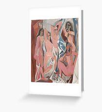 Les Demoiselles d'Avignon( The Young Ladies of Avignon)- Pablo Picasso Greeting Card