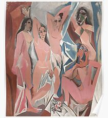 Les Demoiselles d'Avignon( The Young Ladies of Avignon)- Pablo Picasso Poster