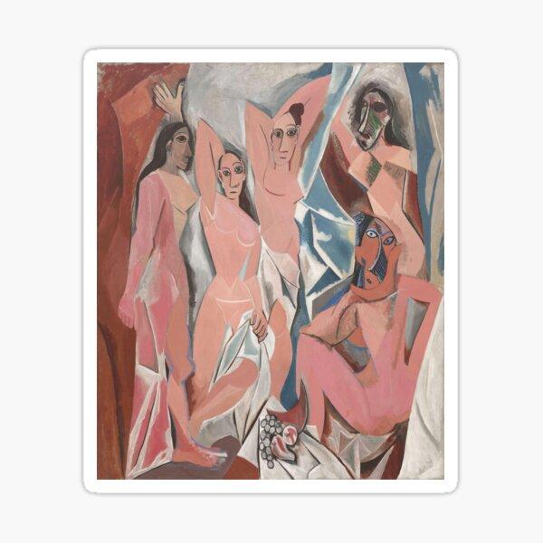Les Demoiselles d'Avignon( The Young Ladies of Avignon)- Pablo Picasso Sticker